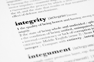 Photo of definition of integrity