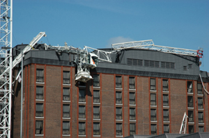 Photo of a crane accident