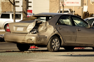 Photo of an auto accident