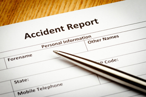 Photo of an accident report